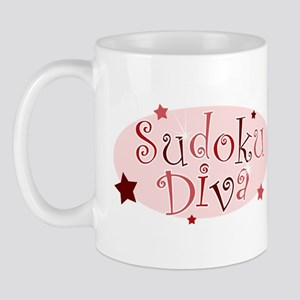 """""""Sudoku Diva"""" [red] Mug"""